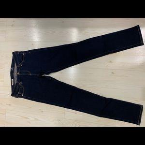 AG Navy skinny jeans - size 28